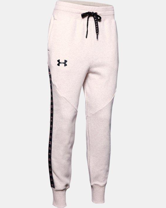 Women's UA Fleece Taped Wordmark Pants, Pink, pdpMainDesktop image number 4