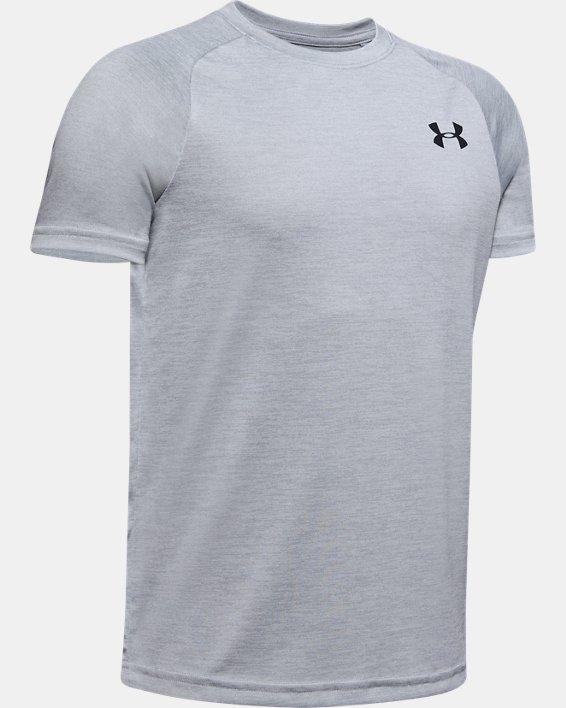Boys' UA Tech™ 2.0 T-Shirt, Gray, pdpMainDesktop image number 0