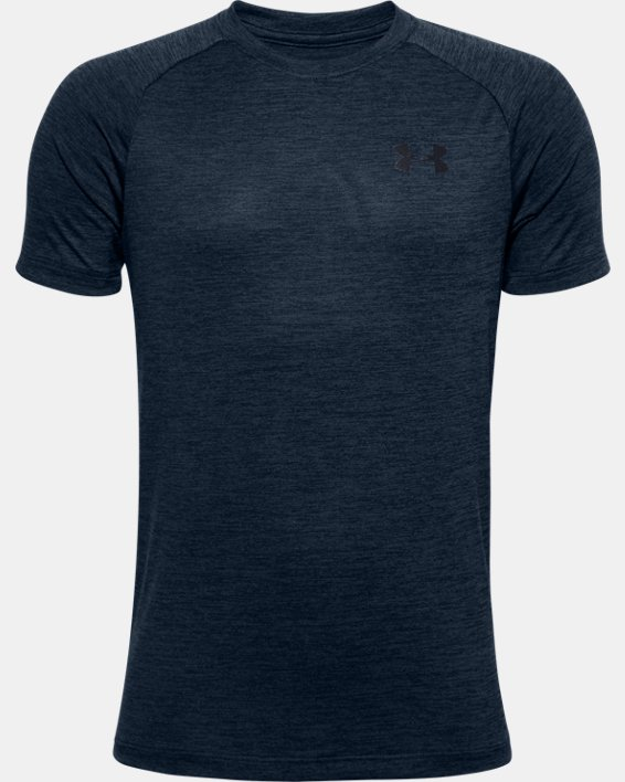 Boys' UA Tech™ 2.0 T-Shirt, Navy, pdpMainDesktop image number 0