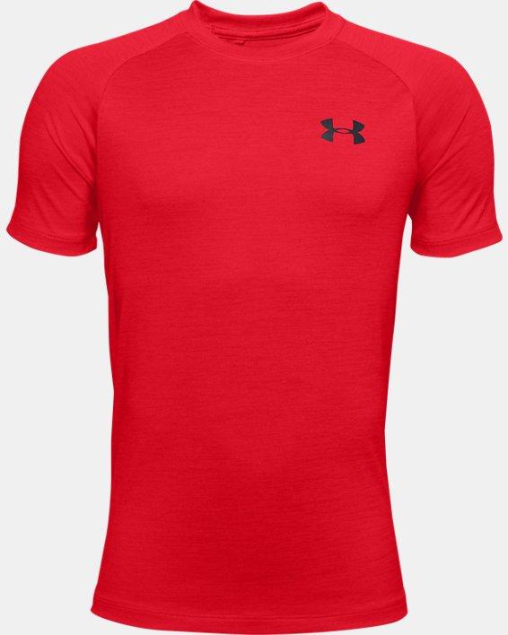 Boys' UA Tech™ 2.0 T-Shirt, Red, pdpMainDesktop image number 0