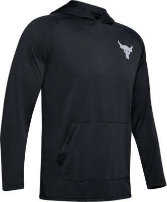 under armour mens project rock tech 1//2 zip long sleeve shirt gray heather Mediu