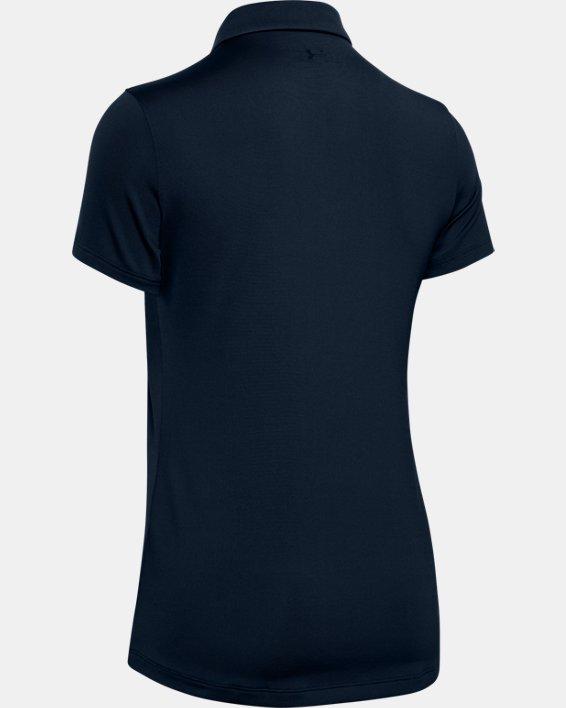 Polo UA Zinger à manches courtes pour femme, Navy, pdpMainDesktop image number 5