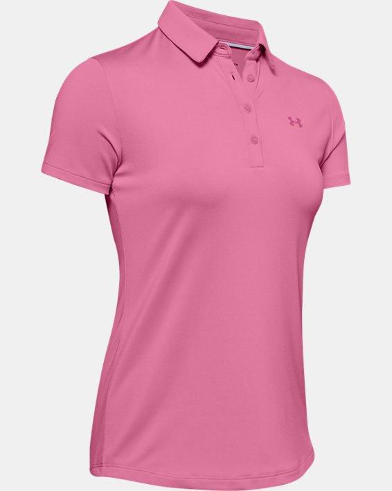 Women's UA Zinger Short Sleeve Polo, Pink, pdpMainDesktop image number 4