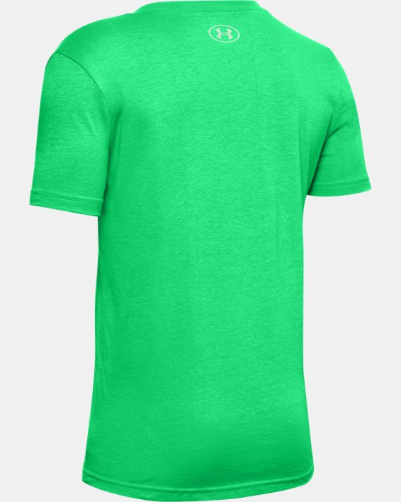 Boys' UA St. Patty's Day Short Sleeve, Green, pdpMainDesktop image number 1