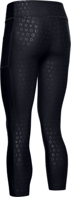 Girl/'s Under Armour Junior Armour Printed Crop Legging in Black