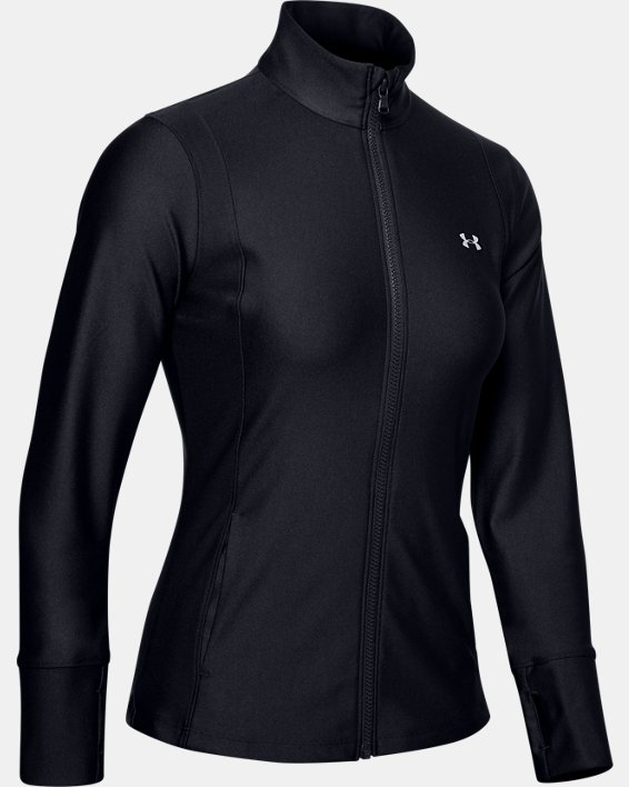 Women's UA Armour Sport Full Zip, Black, pdpMainDesktop image number 4