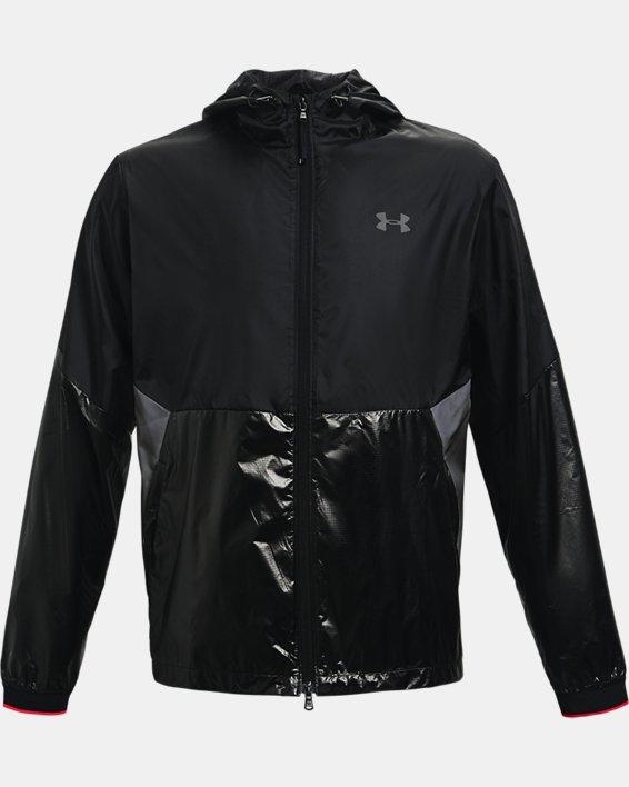 Men's UA RUSH™ Legacy Windbreaker Jacket, Black, pdpMainDesktop image number 4