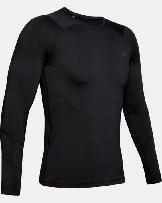 T-shirt à manches longues UA RUSH™ HeatGear® Compression pour homme, Black, pdpMainDesktop image number 4