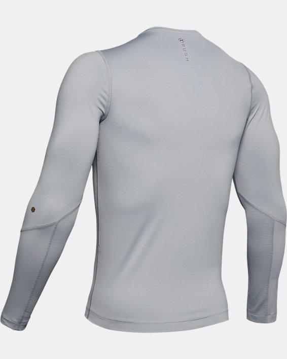 Men's UA RUSH™ HeatGear® Compression Long Sleeve, Gray, pdpMainDesktop image number 5