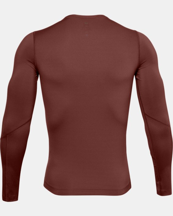 Men's UA RUSH™ HeatGear® Compression Long Sleeve, Red, pdpMainDesktop image number 4