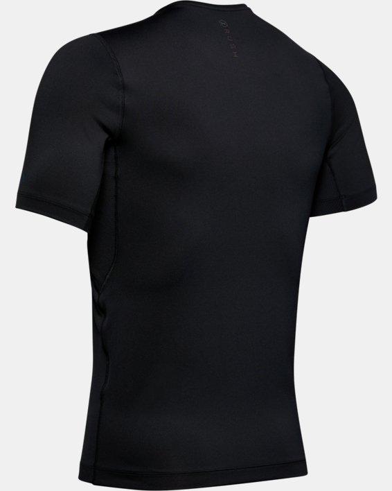 T-shirt à manches courtes UA RUSH™ HeatGear® Compression pour homme, Black, pdpMainDesktop image number 4