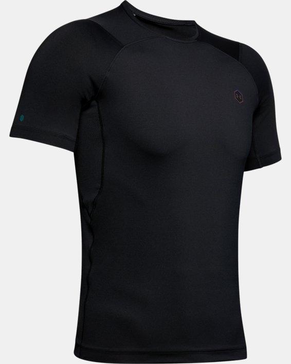 T-shirt à manches courtes UA RUSH™ HeatGear® Compression pour homme, Black, pdpMainDesktop image number 3
