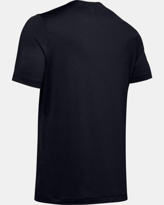 Men's UA RUSH™ HeatGear® Fitted Short Sleeve, Black, pdpMainDesktop image number 4