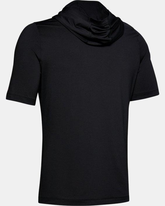 Men's UA RUSH™ HeatGear® Short Sleeve Hoodie, Black, pdpMainDesktop image number 4
