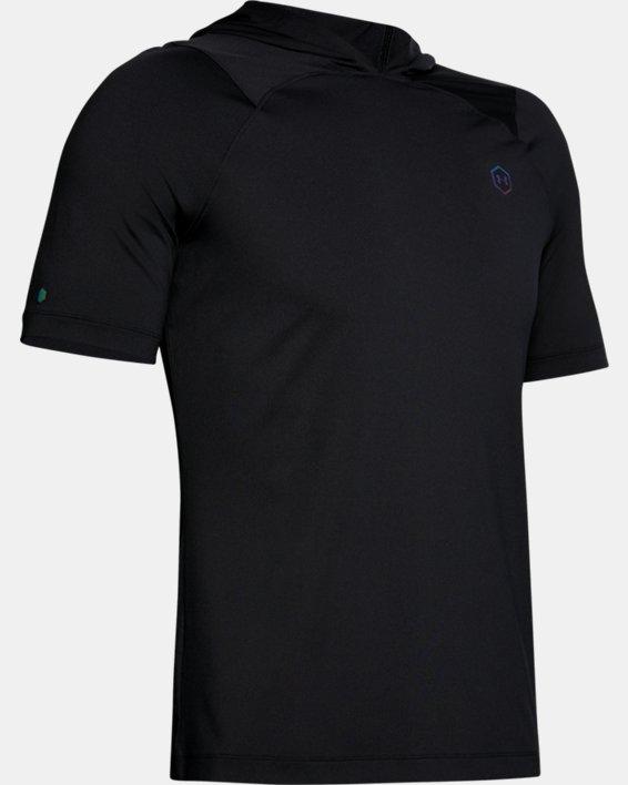 Men's UA RUSH™ HeatGear® Short Sleeve Hoodie, Black, pdpMainDesktop image number 3
