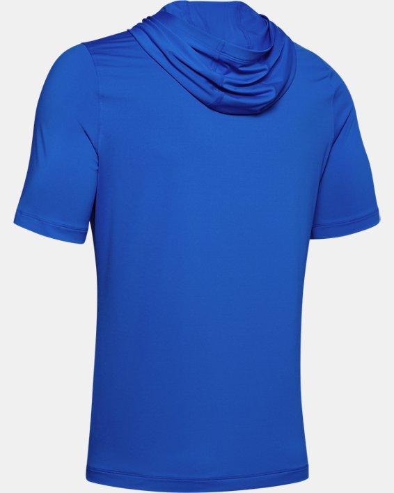 Men's UA RUSH™ HeatGear® Short Sleeve Hoodie, Blue, pdpMainDesktop image number 4