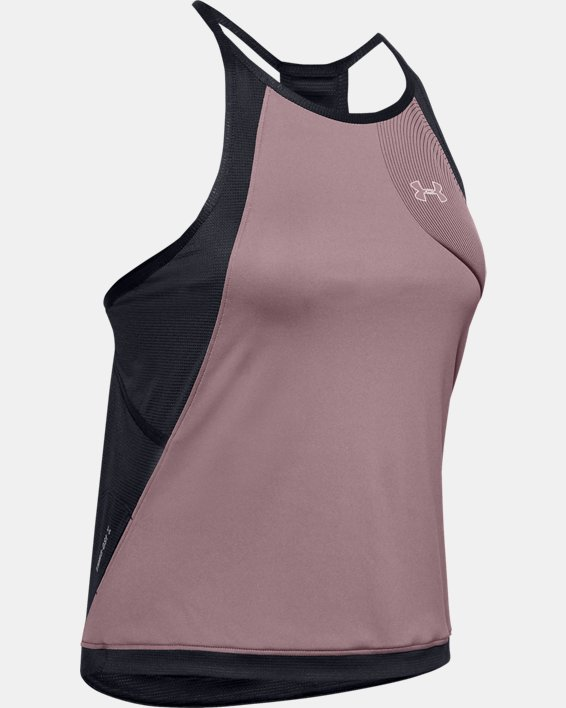 Women's UA Qualifier Iso-Chill Tank, Pink, pdpMainDesktop image number 3