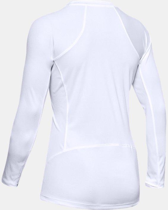 Women's UA Sun Armour Long Sleeve, White, pdpMainDesktop image number 4