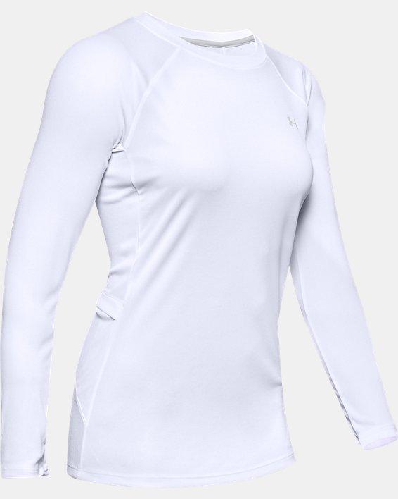 Women's UA Sun Armour Long Sleeve, White, pdpMainDesktop image number 3