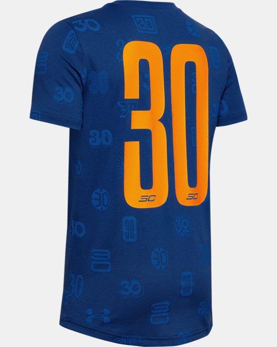Boys' SC30™ All Over Print T-Shirt, Blue, pdpMainDesktop image number 1