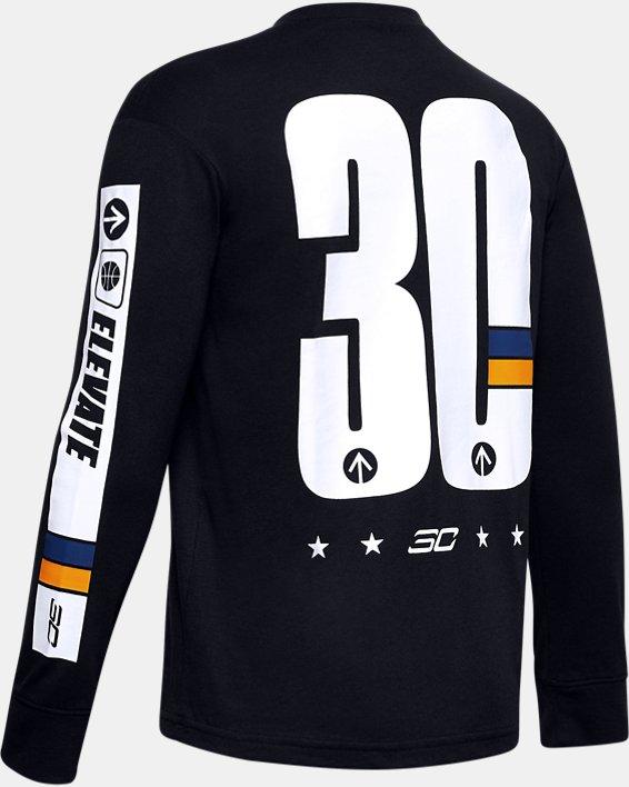 Boys' SC30™ Elevate Long Sleeve, Black, pdpMainDesktop image number 1
