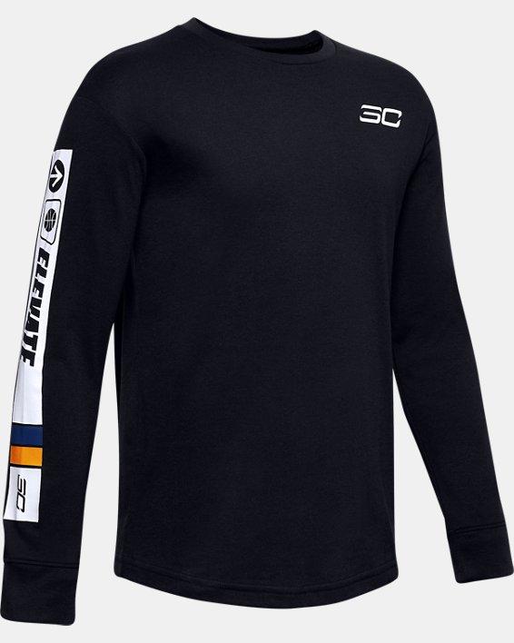 Boys' SC30™ Elevate Long Sleeve, Black, pdpMainDesktop image number 0