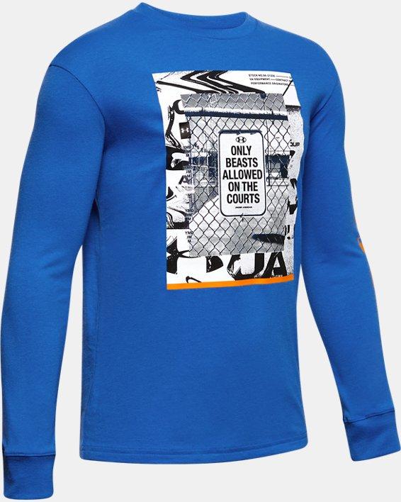 Boys' UA Only Beasts T-Shirt, Blue, pdpMainDesktop image number 0