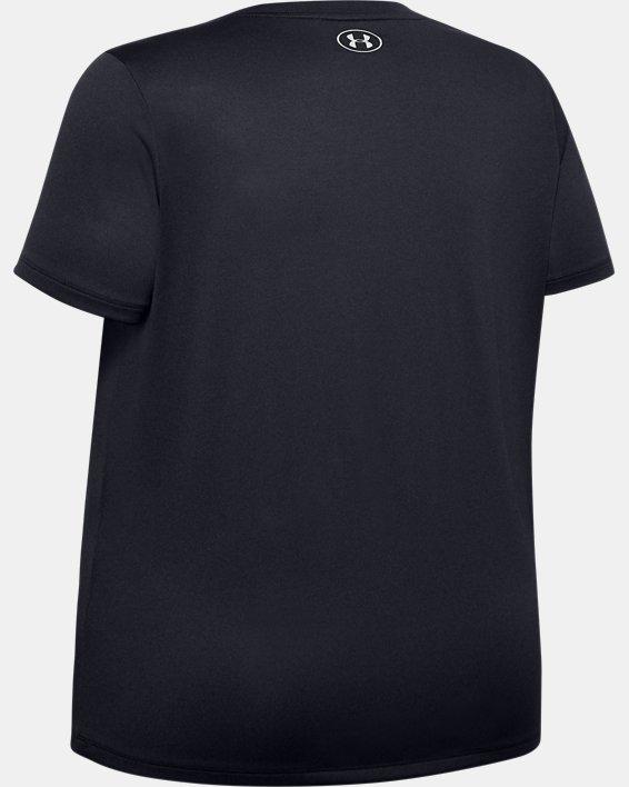 Women's UA Tech™ Short Sleeve V-Neck, Black, pdpMainDesktop image number 7
