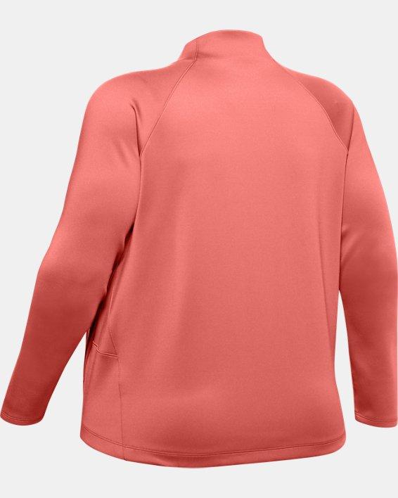 Women's ColdGear® Armour Full Zip Mock, Pink, pdpMainDesktop image number 5