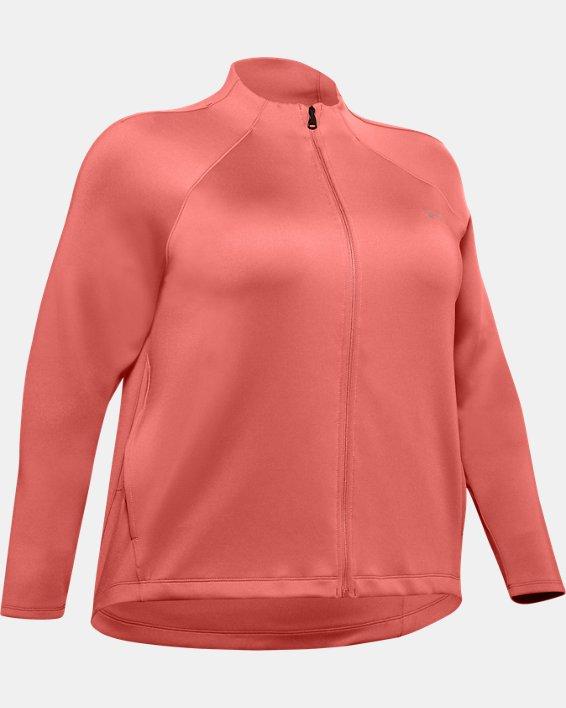 Women's ColdGear® Armour Full Zip Mock, Pink, pdpMainDesktop image number 4