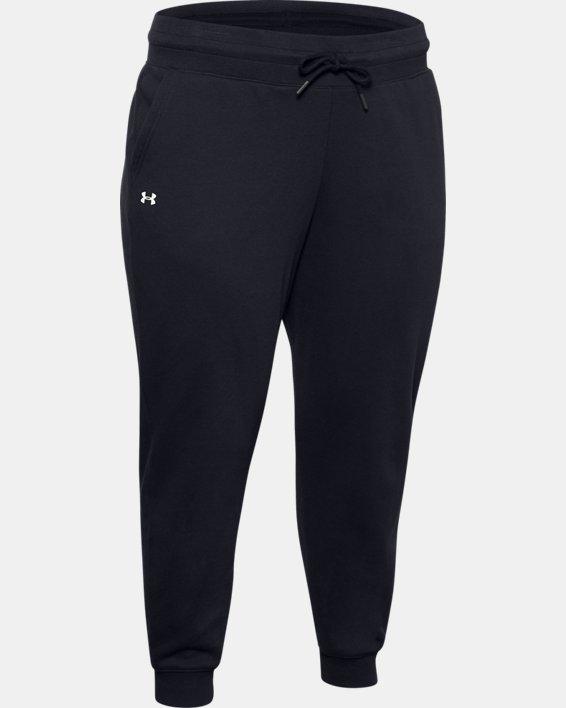 Pantalon UA Rival Fleece pour femme, Black, pdpMainDesktop image number 4