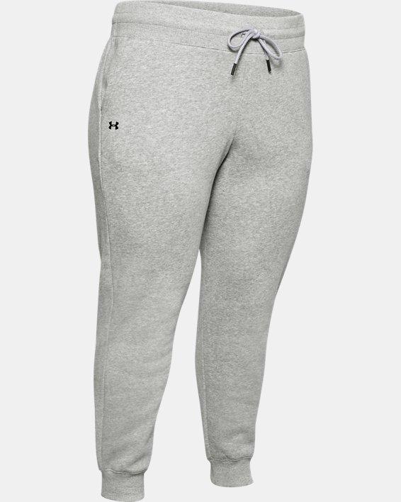 Women's UA Rival Fleece Pants, Gray, pdpMainDesktop image number 4