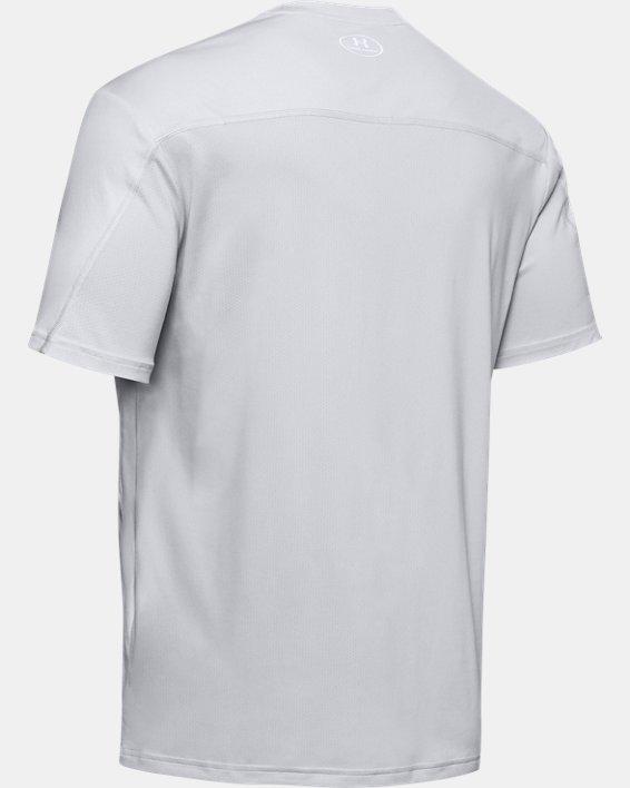 Men's UA Iso-Chill Stacked Short Sleeve, Gray, pdpMainDesktop image number 5