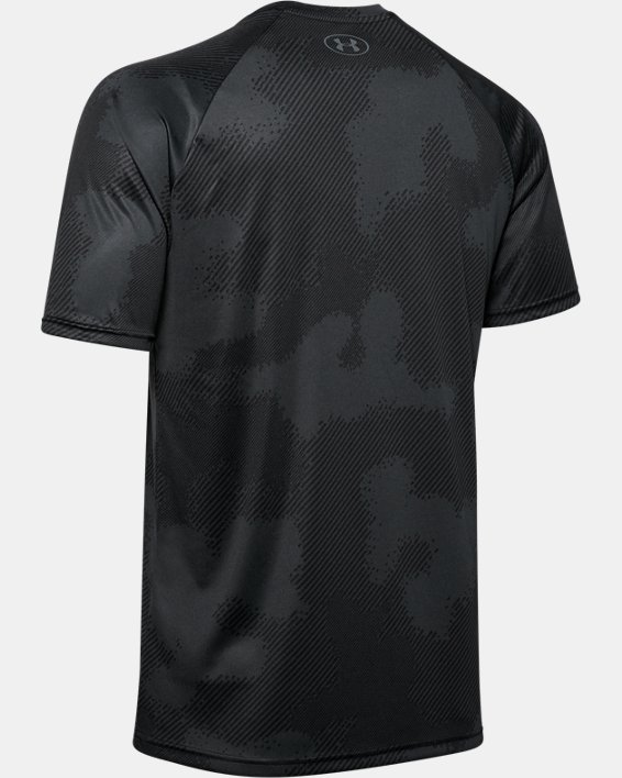 Men's UA Velocity Printed Short Sleeve, Black, pdpMainDesktop image number 5