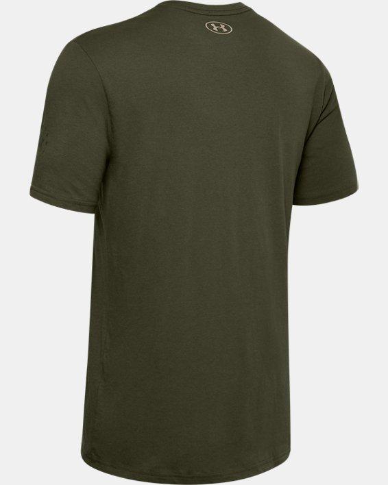 Men's UA Freedom Stars & Stripes T-Shirt, Green, pdpMainDesktop image number 5