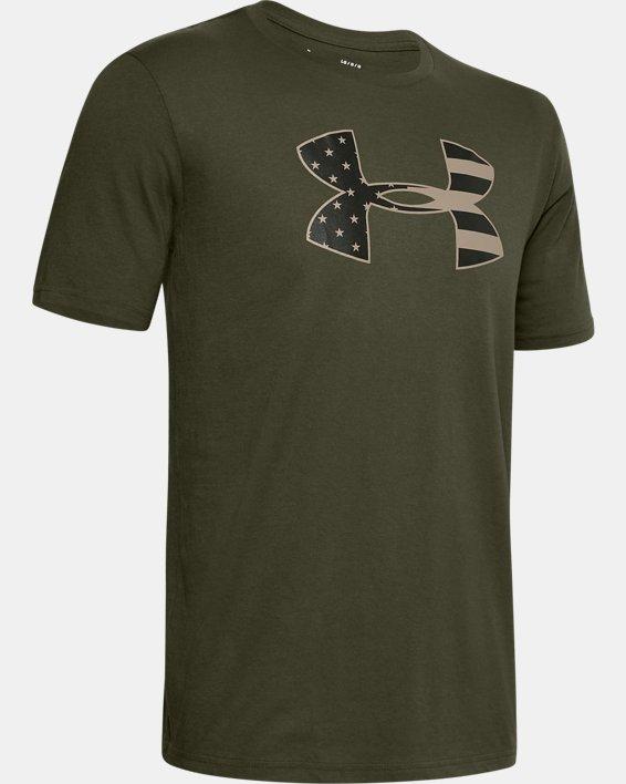 Men's UA Freedom Stars & Stripes T-Shirt, Green, pdpMainDesktop image number 4