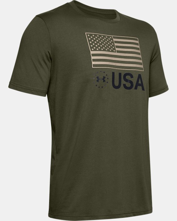 Men's UA Freedom Standard T-Shirt, Green, pdpMainDesktop image number 4