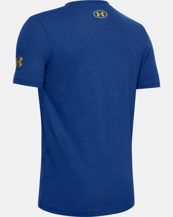 Boys' Curry Graphic Branded T-Shirt, Blue, pdpMainDesktop image number 1