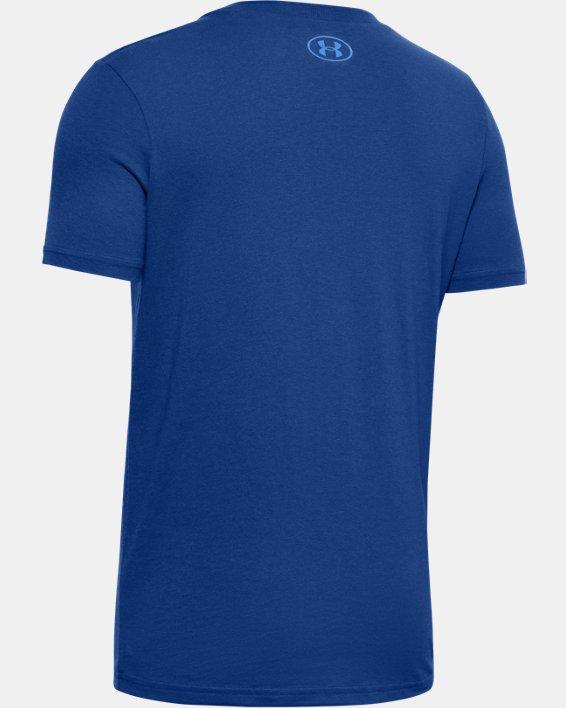 Boys' Curry Graphic Illustration T-Shirt, Blue, pdpMainDesktop image number 1