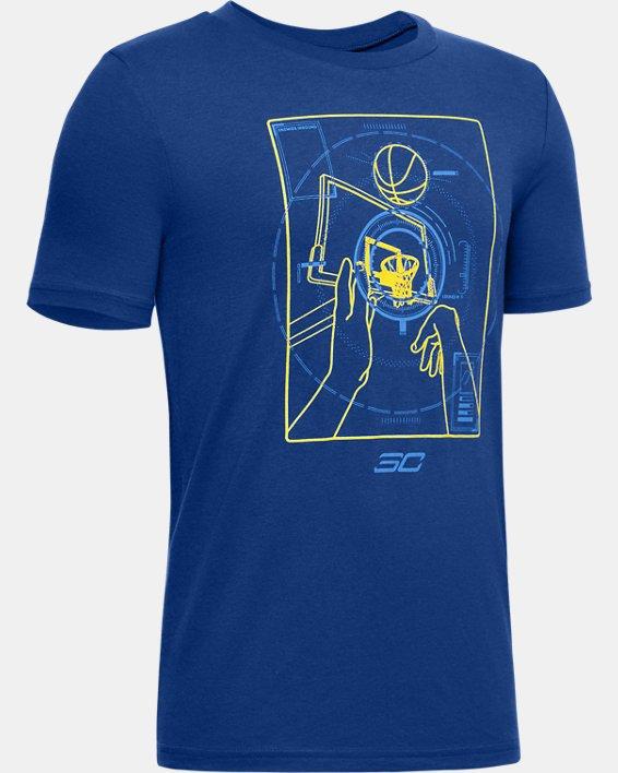 Boys' Curry Graphic Illustration T-Shirt, Blue, pdpMainDesktop image number 0