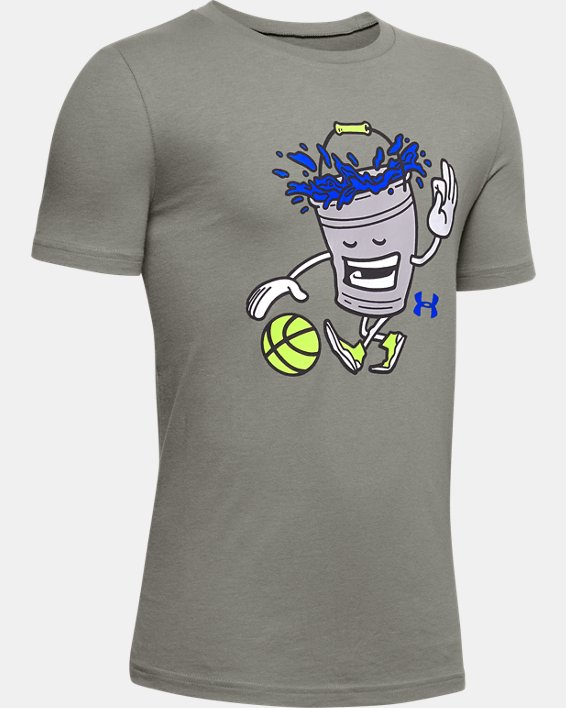 Boys' UA Mr. Buckets T-Shirt, Green, pdpMainDesktop image number 0