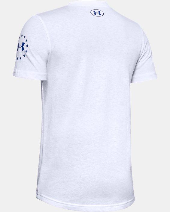 Boys' UA Freedom Stars & Stripes T-Shirt, White, pdpMainDesktop image number 1