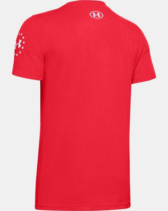 Boys' UA Freedom Stars & Stripes T-Shirt, Red, pdpMainDesktop image number 1
