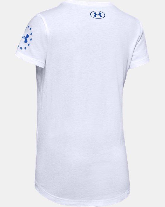 Girls' UA Freedom Celebration T-Shirt, White, pdpMainDesktop image number 1