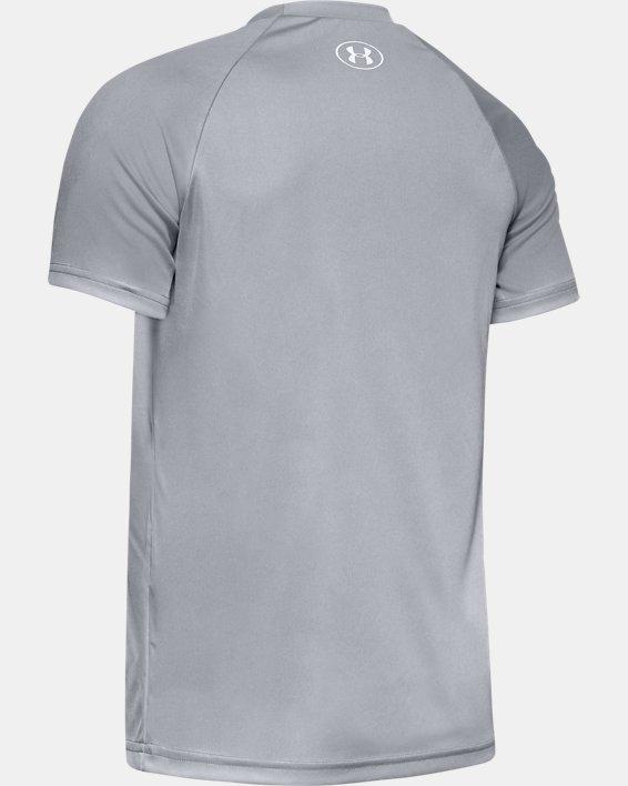Boys' UA Tech™ Hybrid Print Fill Logo T-Shirt, Gray, pdpMainDesktop image number 1