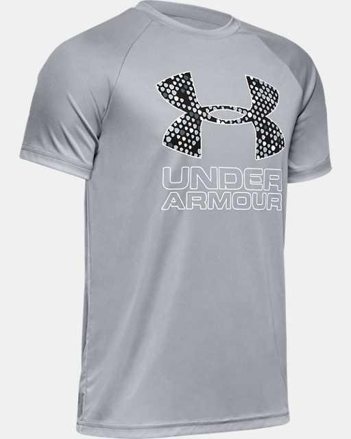 Boys' UA Tech™ Hybrid Print Fill Logo T-Shirt