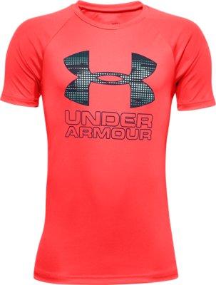 Boys' UA Tech™ Hybrid Print Fill Logo T-Shirt | Under Armour
