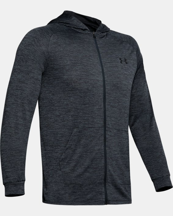 Men's UA Tech™ 2.0 Full Zip Hoodie, Black, pdpMainDesktop image number 4