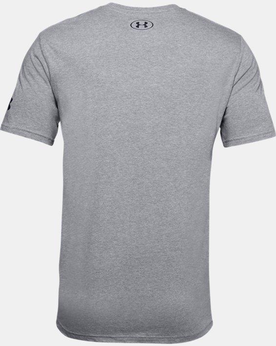 Men's UA UNDR ARMR Court Graphic T-Shirt, Gray, pdpMainDesktop image number 5