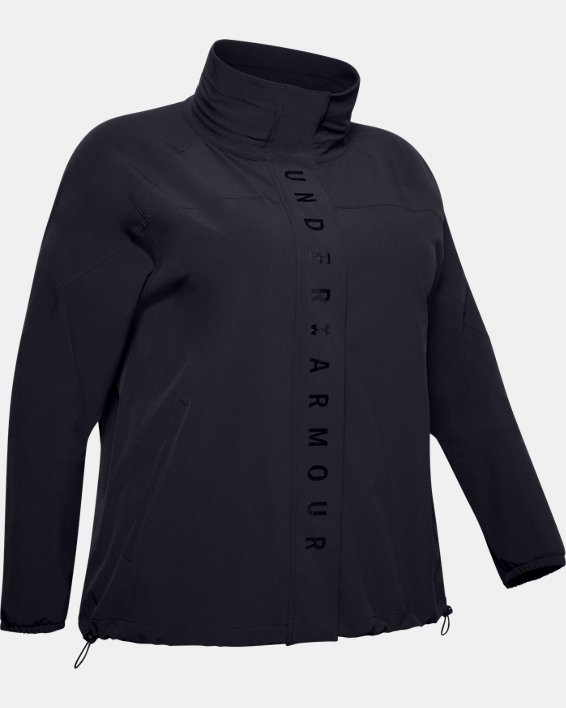 Women's UA RECOVER™ Woven Full Zip, Black, pdpMainDesktop image number 3